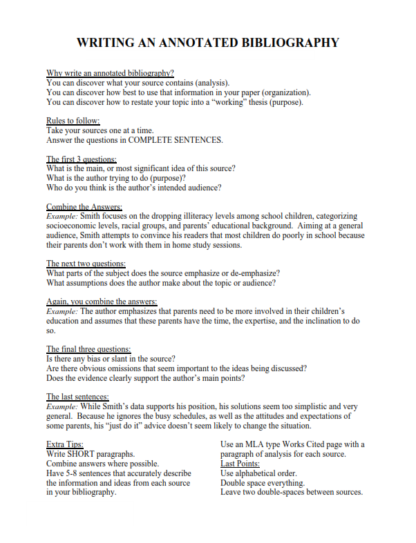 Annotated Bibliography Examples (PDF)