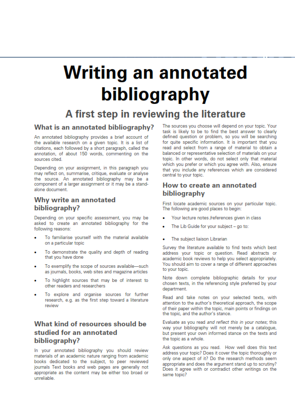 Annotated Bibliography Template (PDF)