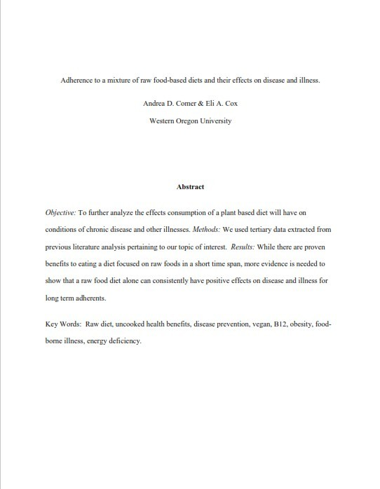 AMA Style Paper Example