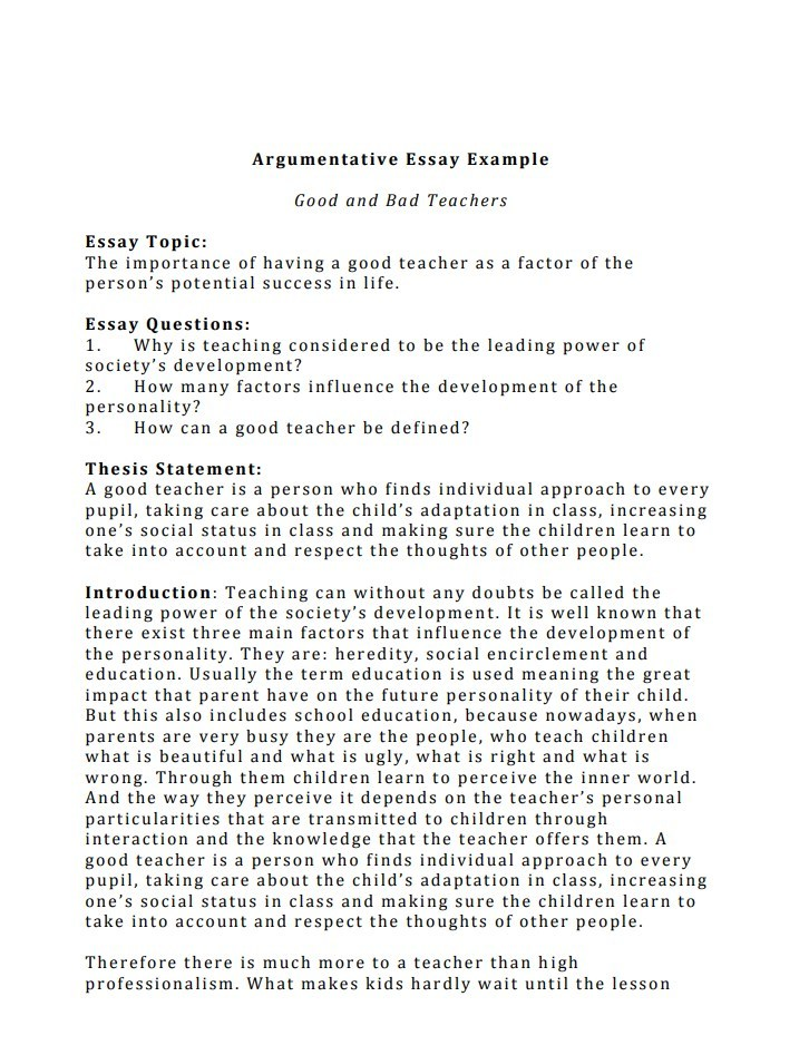 top notch argumentative essay examples to get quality grades