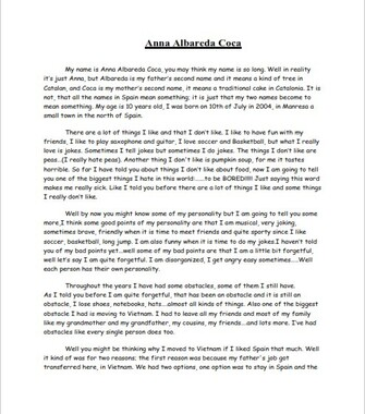 Short Autobiography Example for Students