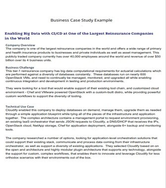 Business Case Study Example (PDF)