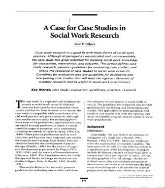 Social Work Case Study Examples(PDF)