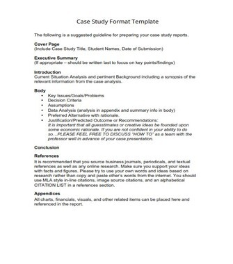 Case Study Format Template (PDF)