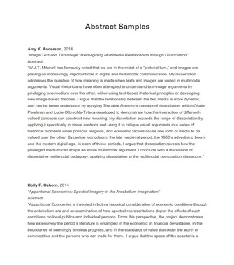 Dissertation Abstract Sample