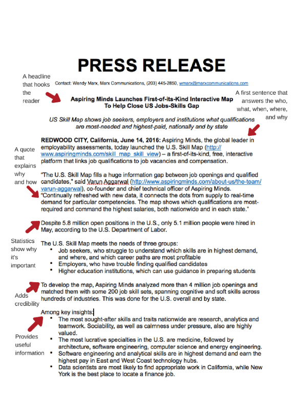 Press Release Example (PDF)