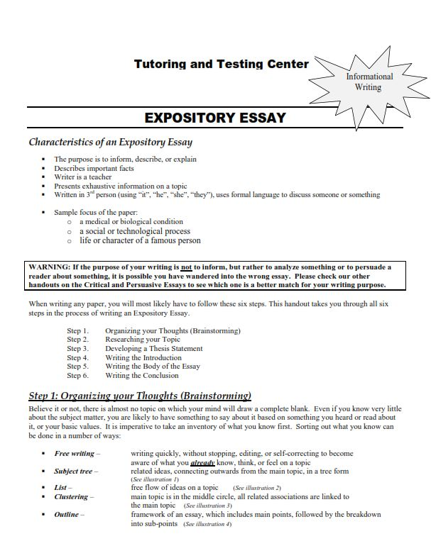 How to Write Expository Essay - Example (PDF)