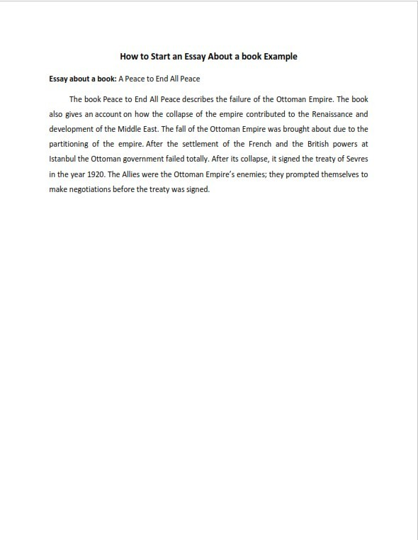 How to Start an Essay About a Book (PDF)