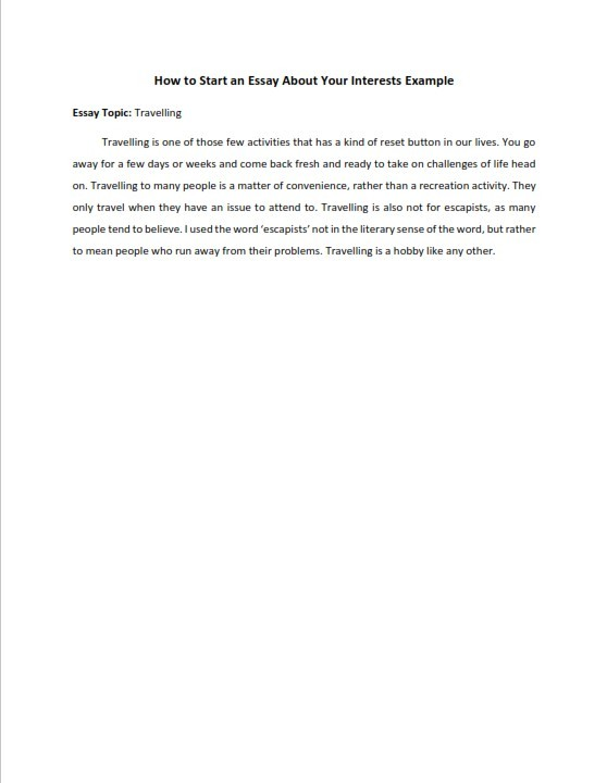 How to Start an Essay About Your Interests (PDF)