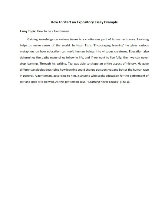 How to Start an Expository Essay (PDF)