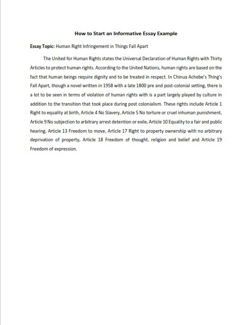 How to Start an Informative Essay (PDF)