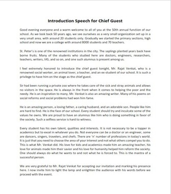 Introduction Speech for Chief Guest (PDF)