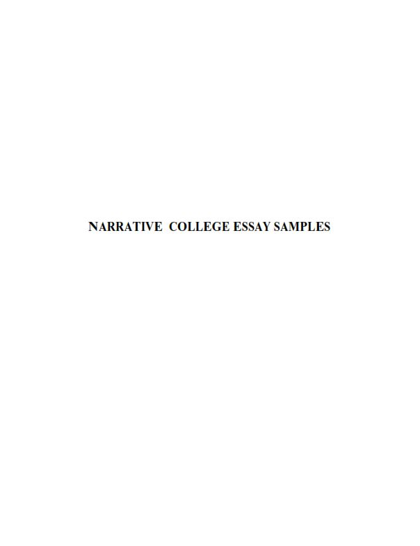 Narrative Essays for College (PDF)