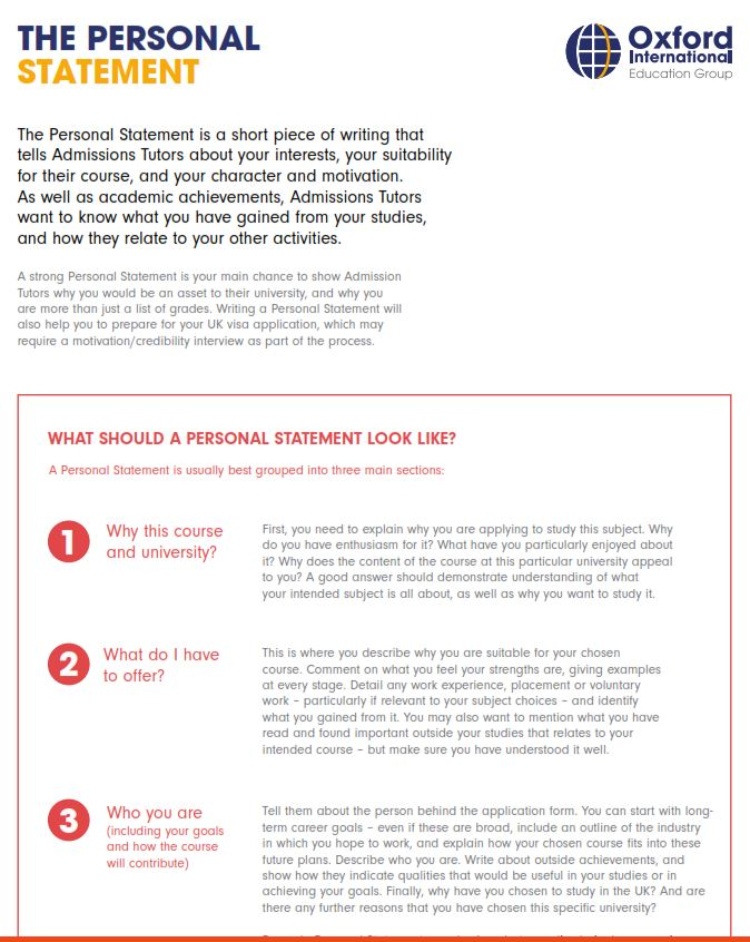 How to start a personal statement