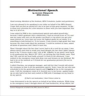Motivational Persuasive Speech Examples (PDF)