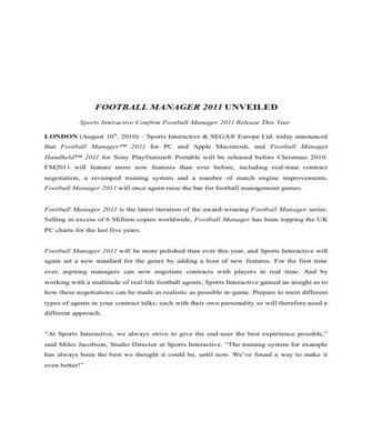 Sports Press Release Example  (PDF)