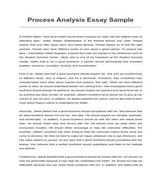 Process Analysis Essay Sample