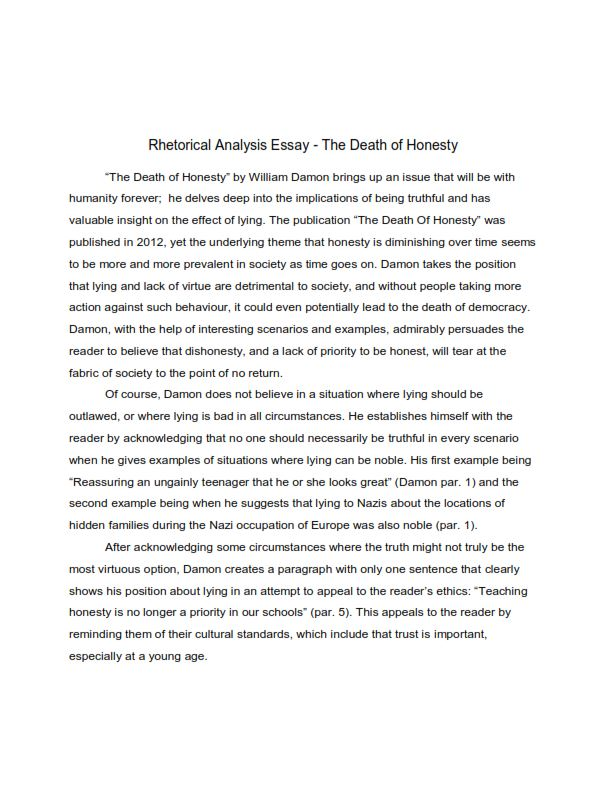 Rhetorical Analysis Essay AP Lang (PDF)