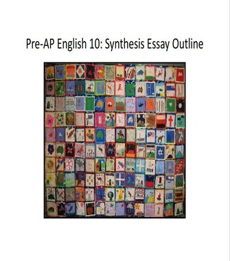 AP Language Synthesis Essay Outline Example