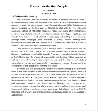Thesis Introduction Sample (PDF)