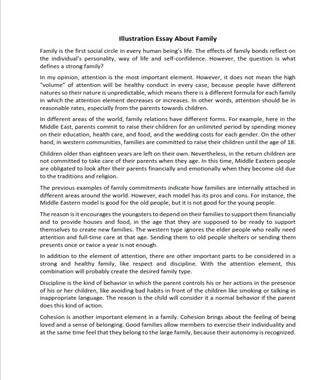 Illustration Essay About Family