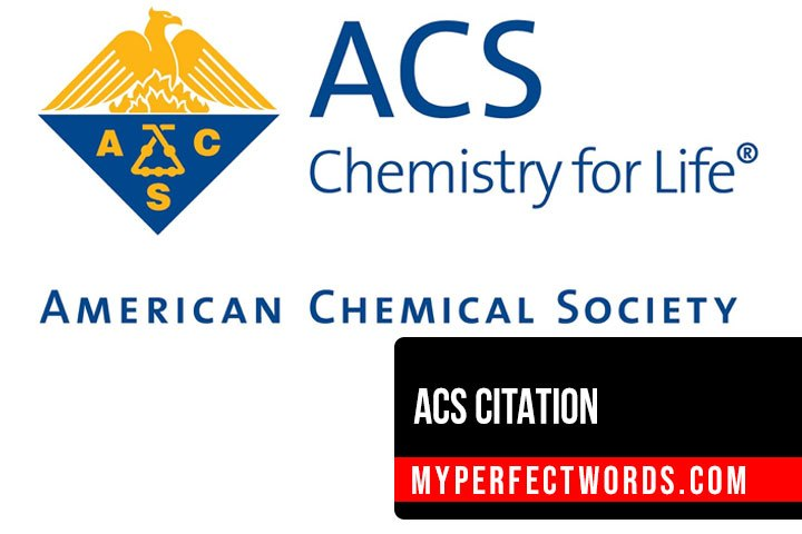 How to Cite in ACS Citation - Manual for the Chemical Society