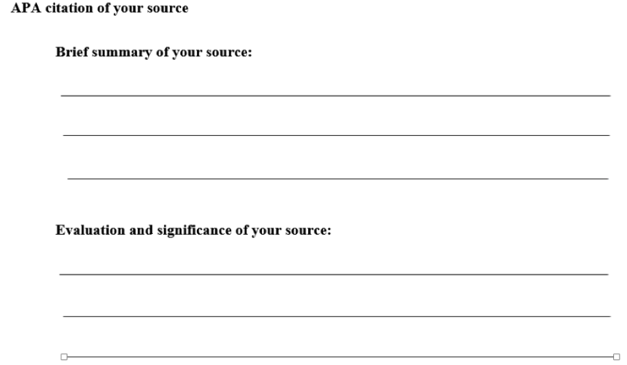 APA style annotated bibliography template