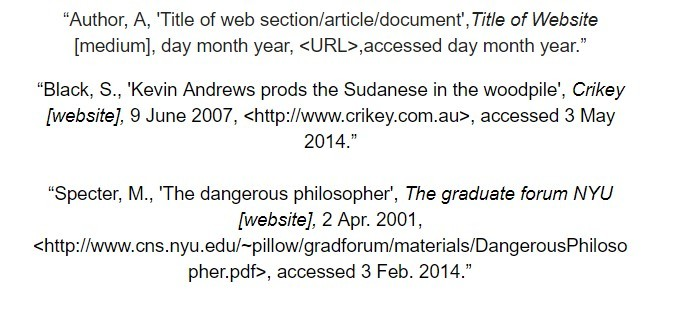oxford referencing bibliography list examples