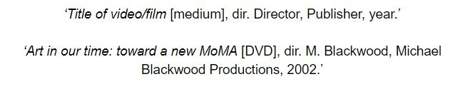 oxford referencing film and DVD footnote examples