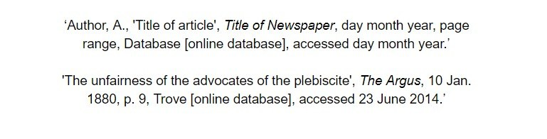 oxford referencing for an online database article bibliography examples