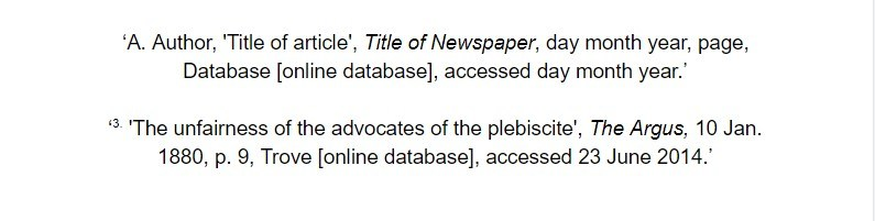 oxford referencing for an online database article footnote examples