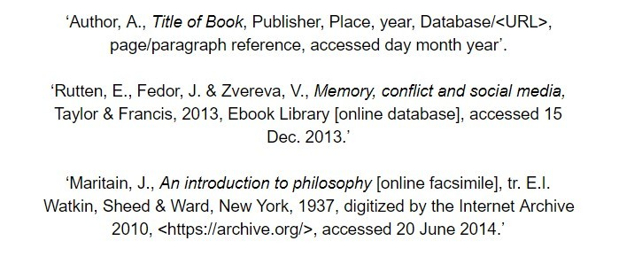 oxford referencing for ebook bibliography examples