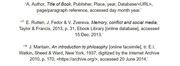oxford referencing for ebook footnote examples