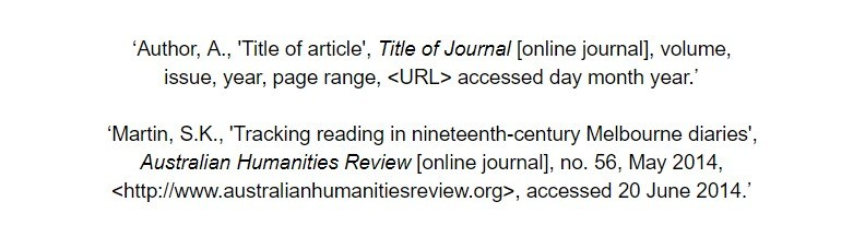oxford referencing for online article bibliography examples
