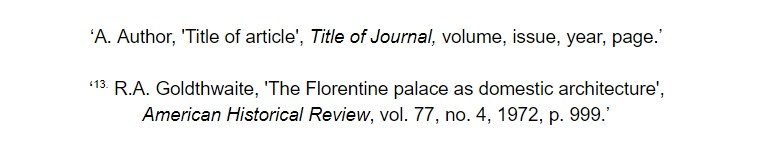 oxford referencing for print journal article footnote examples