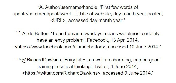 oxford referencing social media footnote examples