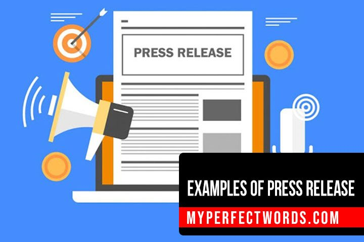 Get Started With A Perfect Press Release Example