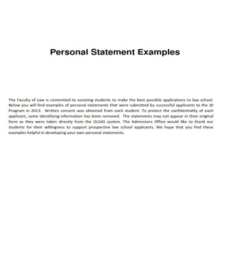 Personal Statement Examples (PDF)