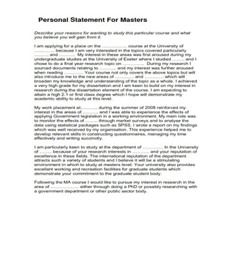 Personal Statement For Masters (PDF)