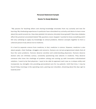 Personal Statement Template (PDF)