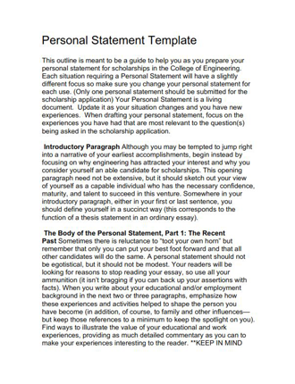 Sample Personal Statement Template (PDF)
